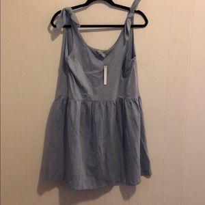 Asos Tie Strap Purple Smock Dress, US08